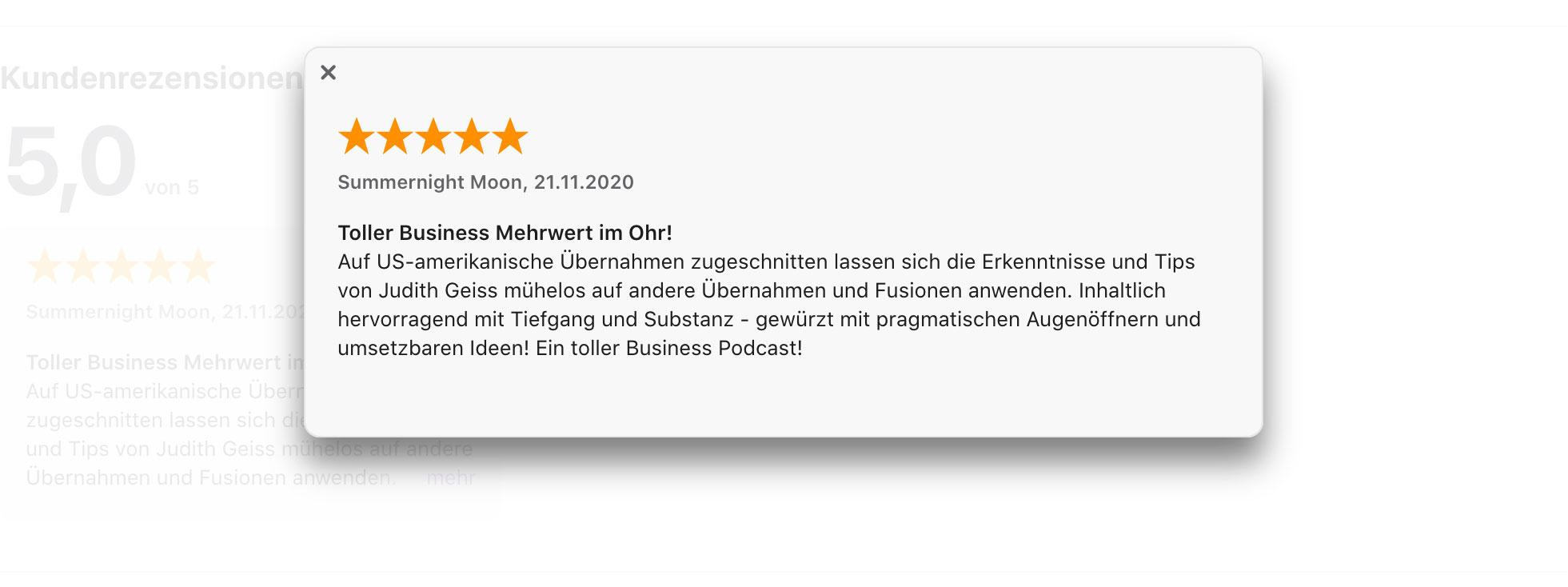 Podcast-Bewertung iTunes